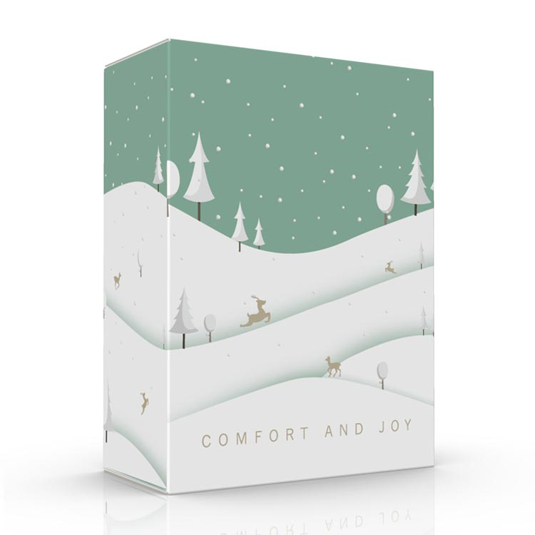 Winter scene tuck box