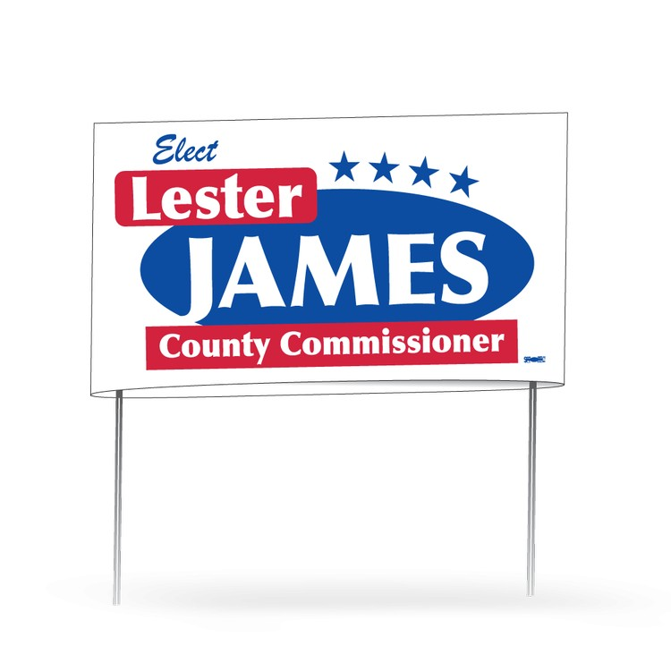 Fold Over Poster Campaign Yard Signs | Political Candidate Campaign ...
