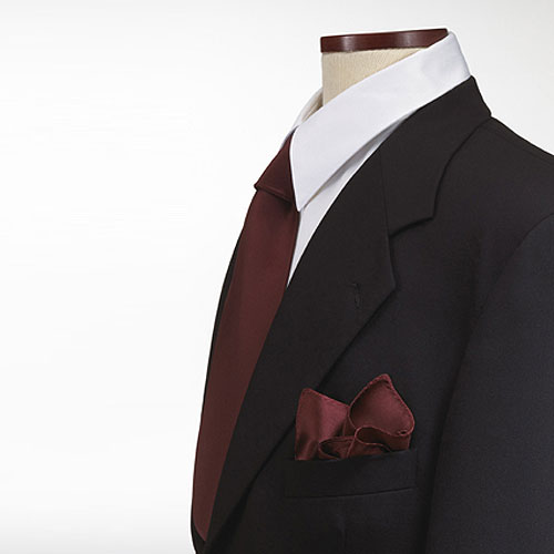 Maroon Polyester Pocket Square