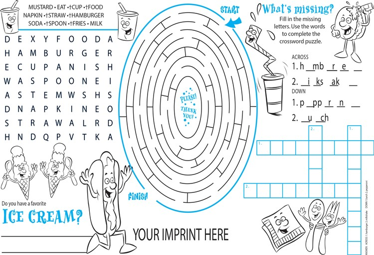 PLACEMAT - Everyday Placemat and Activity Poster