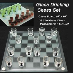 10 Glass Drink Chess Set