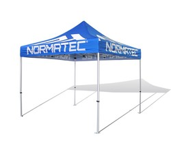 V4 10x10 AluminumFrame Pop Up Tent w/Fully Printed Top