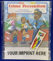 COLORING SET - Crime Prevention Coloring Book Fun Pack - Coloring Book Fun Pack