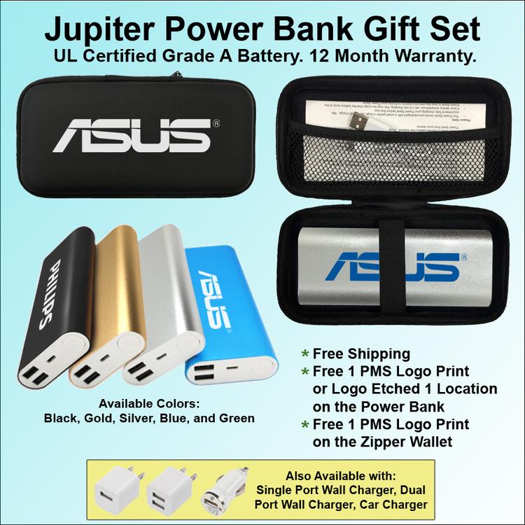 Jupiter Power Bank in Zipper Wallet 12000 mAh