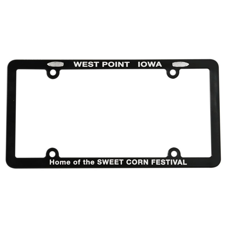 Screened Full View License Plate Frame