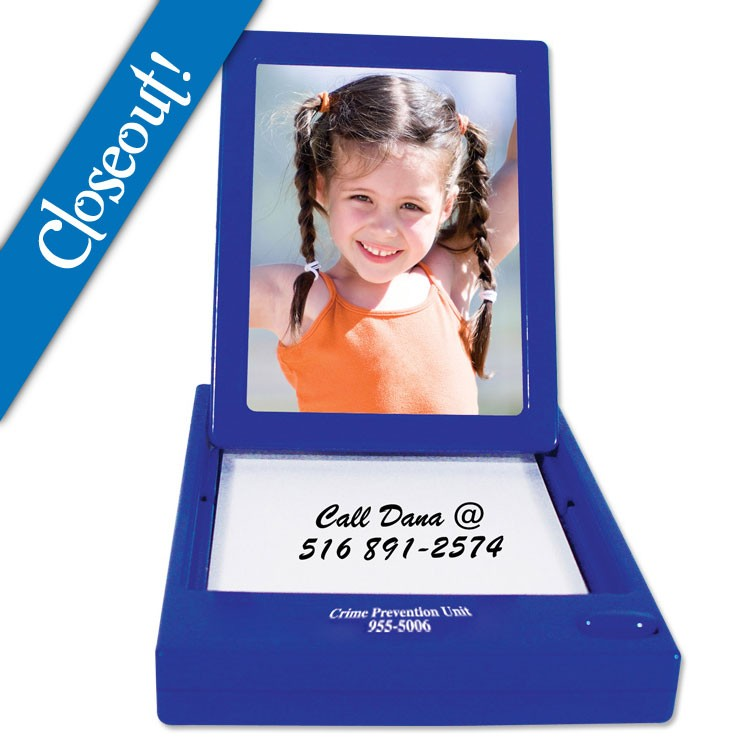 Pop Up Picture Frame with Notepad - Blue