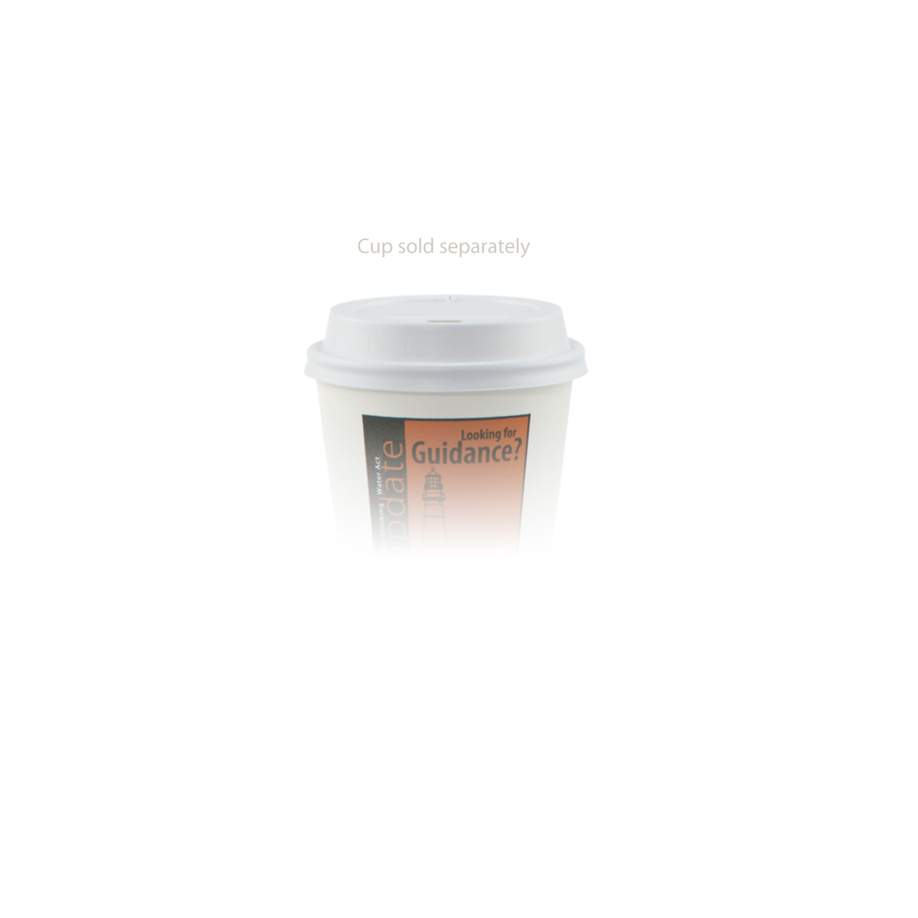 8 oz Paper Cup Domed Lid - White