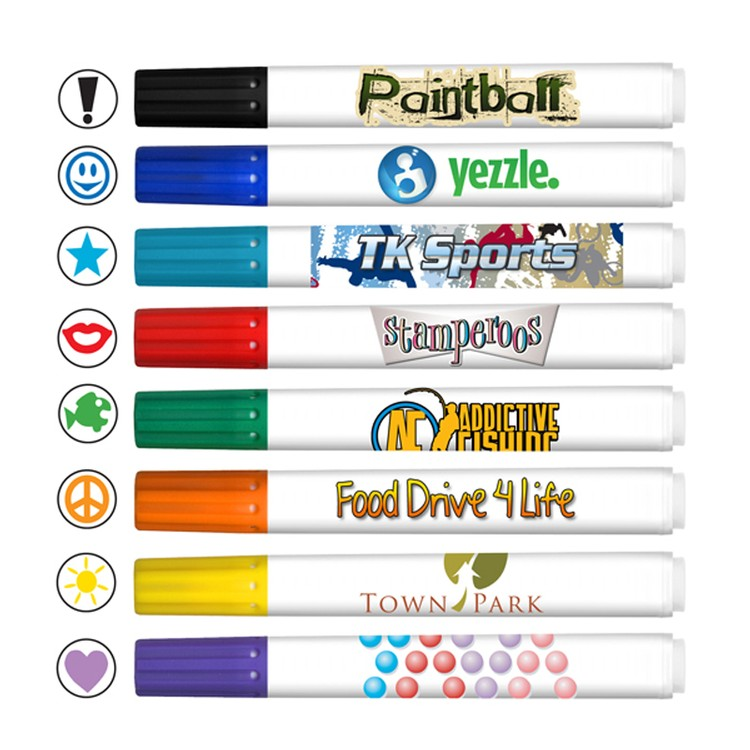 Stamperoos Washable Stamp Markers with Full Color Decal - USA Union Made