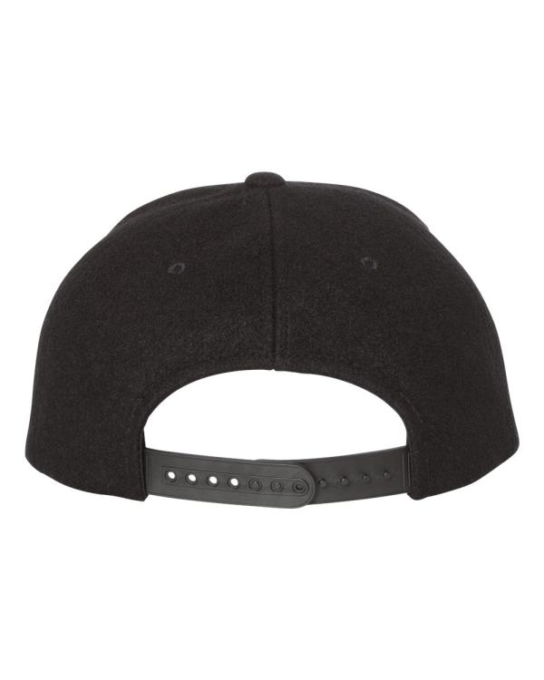 71902760c65a9 Melton Wool Snapback Cap - 6689
