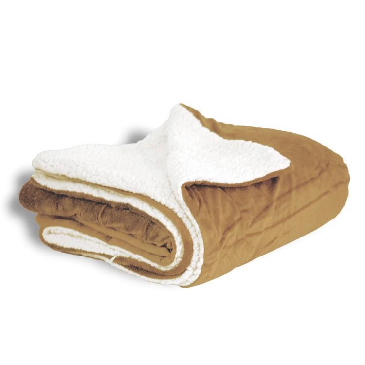 Sherpa Throw Blanket - Camel