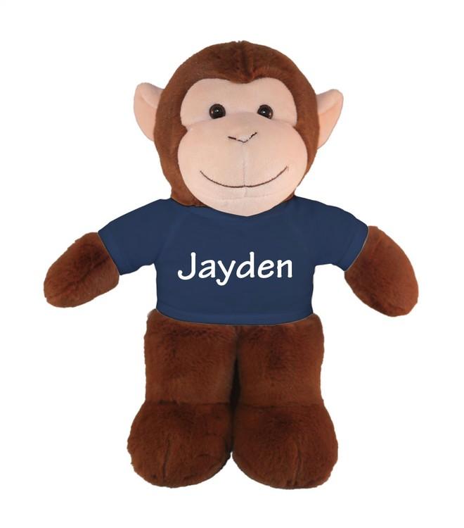 Soft Plush Monkey with tee Stuffed Animal