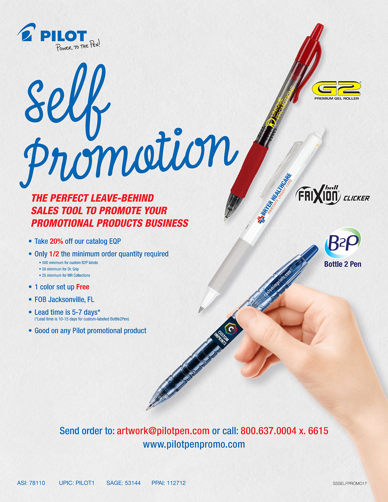 Self Promo Sales Sheet - 2017 - Pilot Promotional Products.jpg