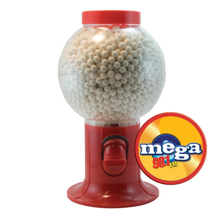 Red Gumball Machine with Signature Peppermints