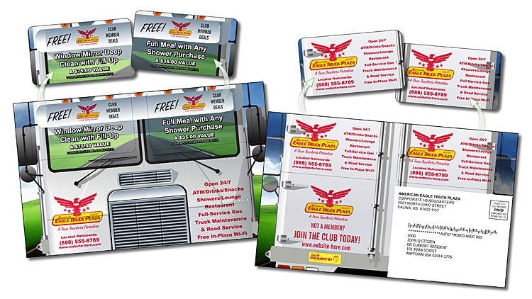 Snap-Out Mail Card (5.25x8.5) - Extra-Thick Laminated Paper Card (24pt) with Snap Out Cards