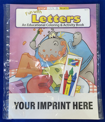 COLORING SET - Fun With Letters Coloring Book Fun Pack - Coloring Book Fun Pack