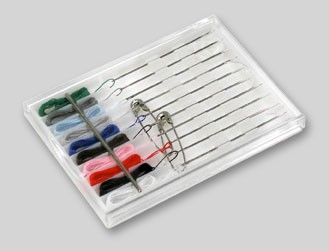 Sewing Kit with Threaded Needles