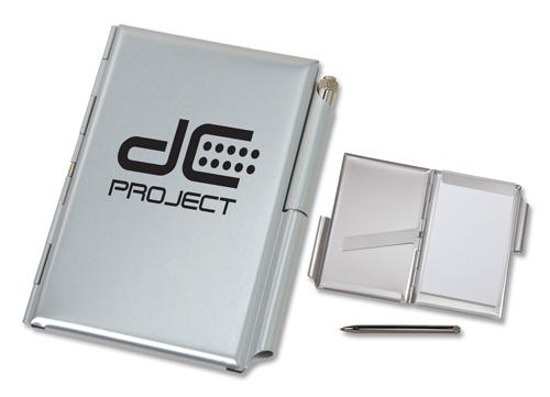 Aluminum Jotter with Metal Pen