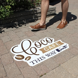 Wall and Street Decal for Rough Surfaces (18x12)