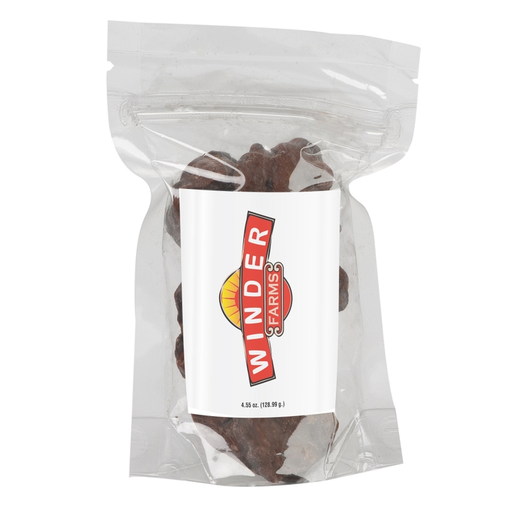 3 x 5 STAND UP POUCH W/ CHOCOLATE PEANUT CLUSTERS
