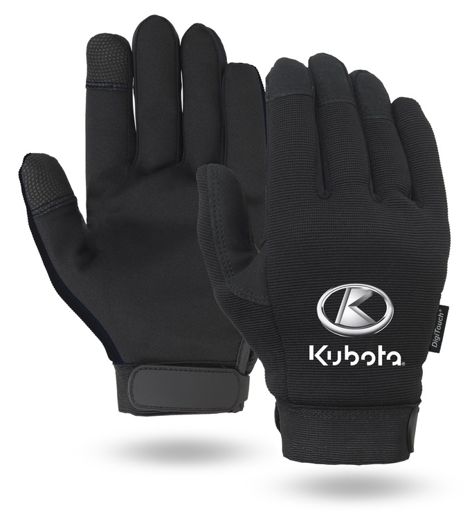 Black Touchscreen Mechanics Gloves