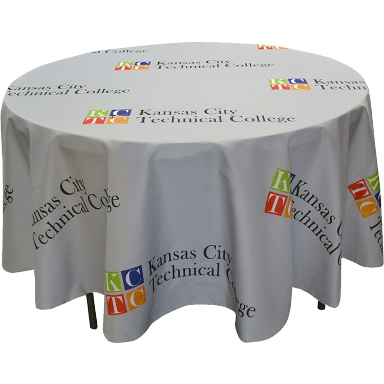 Full Color Round Table Covers For 4 Diameter Tables