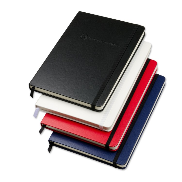 5 x 7 Medium Size Essential Leatherette Bookbound Hardcover Turned-Edge Covering Journal Notebook
