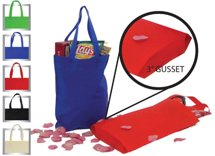 Non-woven polypropylene recyclable and reusable shopping tote bag