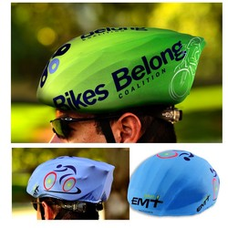 Bicycle Helmet Cover w/Full Color Imprint - Bicycle Helmet Cover w/Full Color Imprint