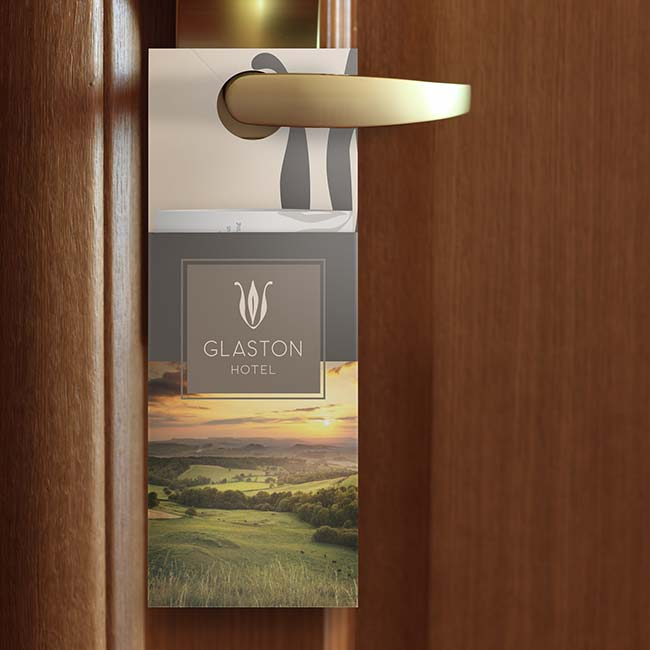 Pocket door hanger for hotel