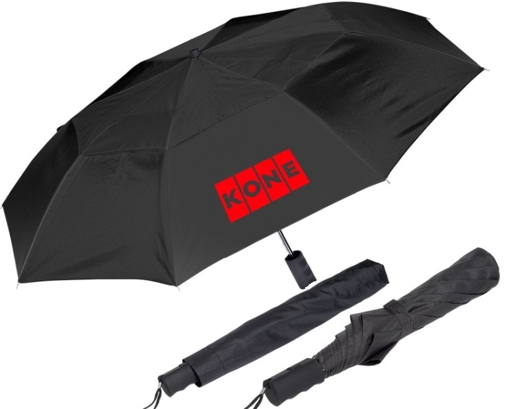 custom umbrellas folding compact logo printed promotional corporate gifts