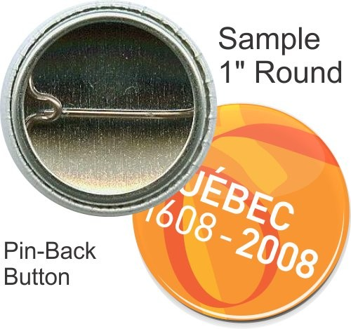Pin-back 1 Inch Round Button