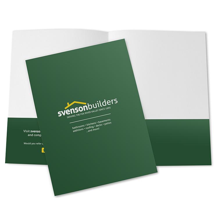 Custom printed bid presentation folder for contractors