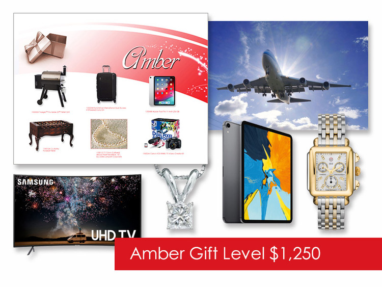 $1,250 Gift of Choice (Amber Level) Gift Card
