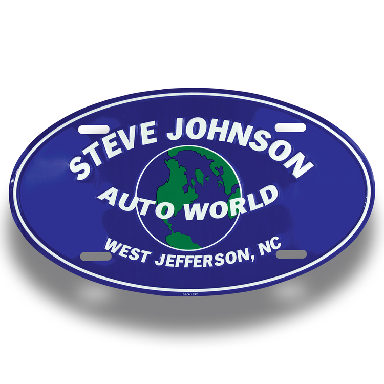 Auto Oval Plates (Embossed)