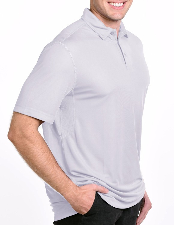 Men\'s Allure Performance Golf Shirt Solid Color with Mesh Polo