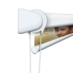 """48""""W Triton™ Printed Blinds, Fabric Sheer, Left Chain Pull"""