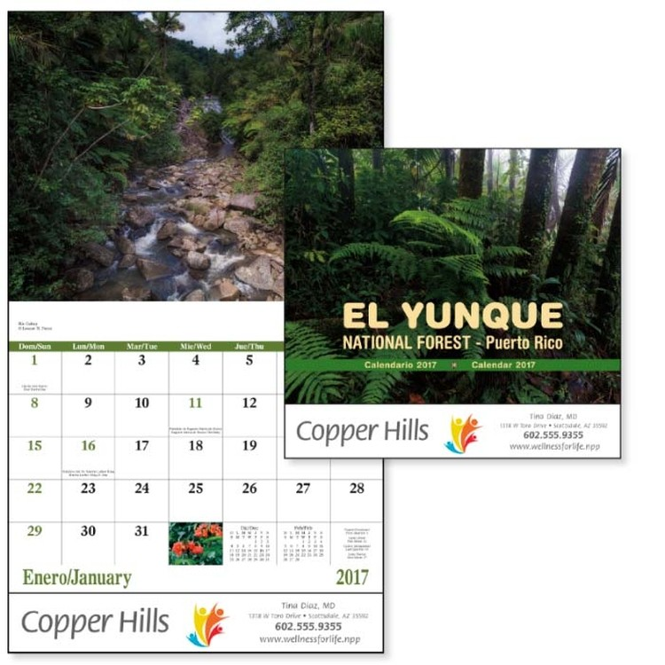 El Yunque National Forest - Stapled Calendar