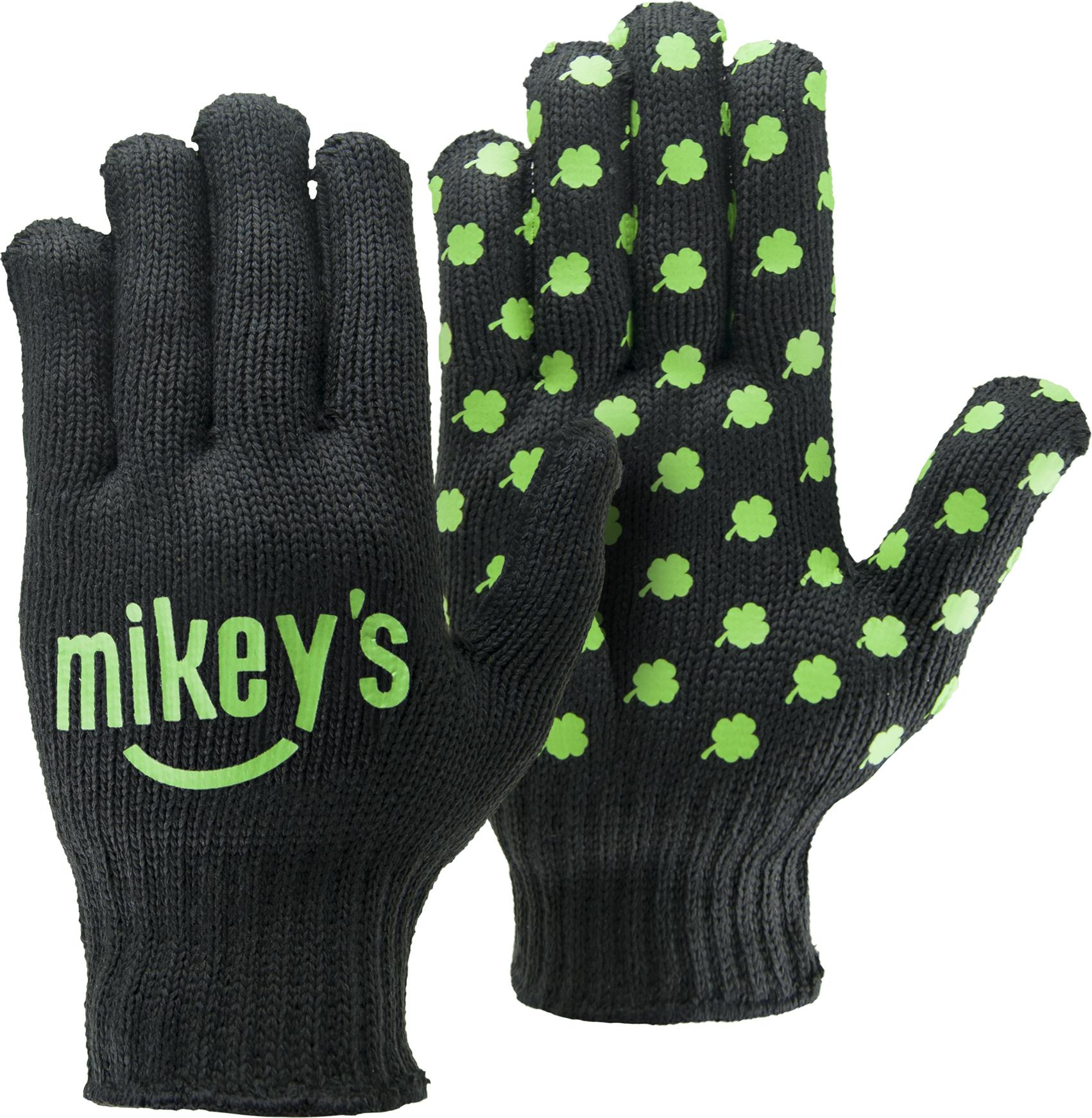 Black Knit Gloves w/Step & Repeat Imprint