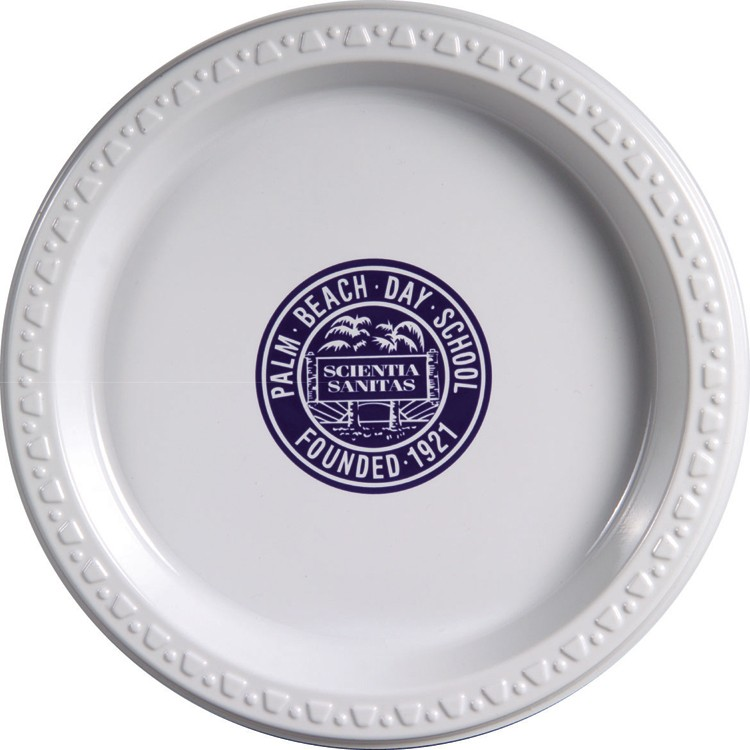 7 White Plastic Plate