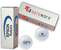 3 custom logo golf balls w/logo box for business