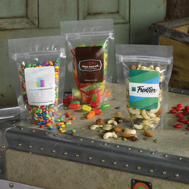 3 x 5 STAND UP POUCH W/ CHOCOLATE PEANUTS