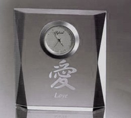 Sussex Clock. Optic Crystal