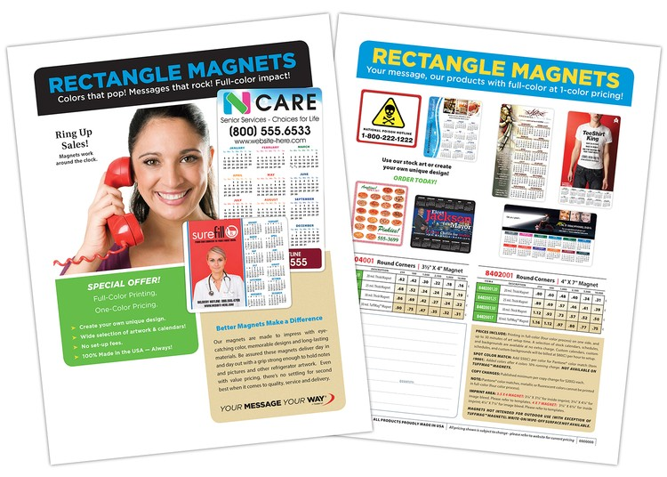 free marketing flyer rectangle magnets 8402001 8404001
