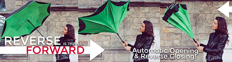 custom logo umbrellas reverse inverted betterbrella