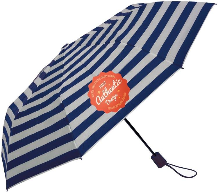 42 Inch Auto Open Folding Striped Umbrella SALE Until 12/31/2016