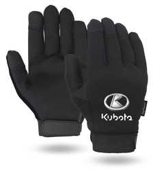 Black Touchscreen Mechanics Gloves
