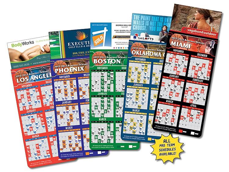 Magna-Card Business Card Magnet - Basketball Schedules (3.5x9)