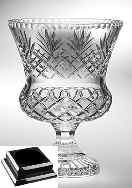 Raleigh Trophy Vase on Black Piano Finish Base