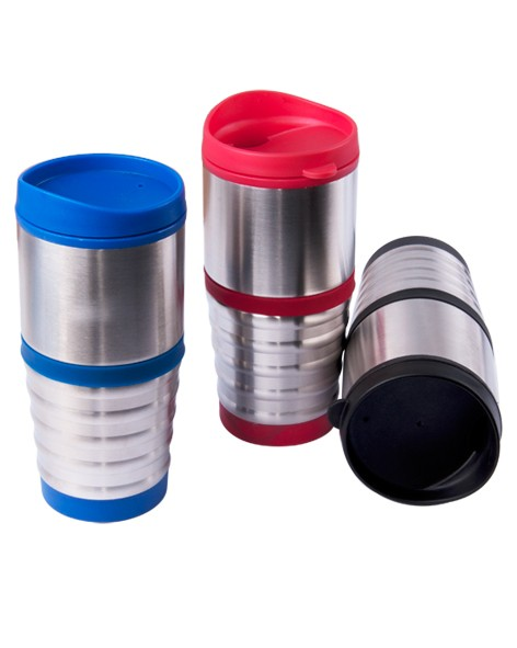 Ringed Grip Stainless Steel Tumbler
