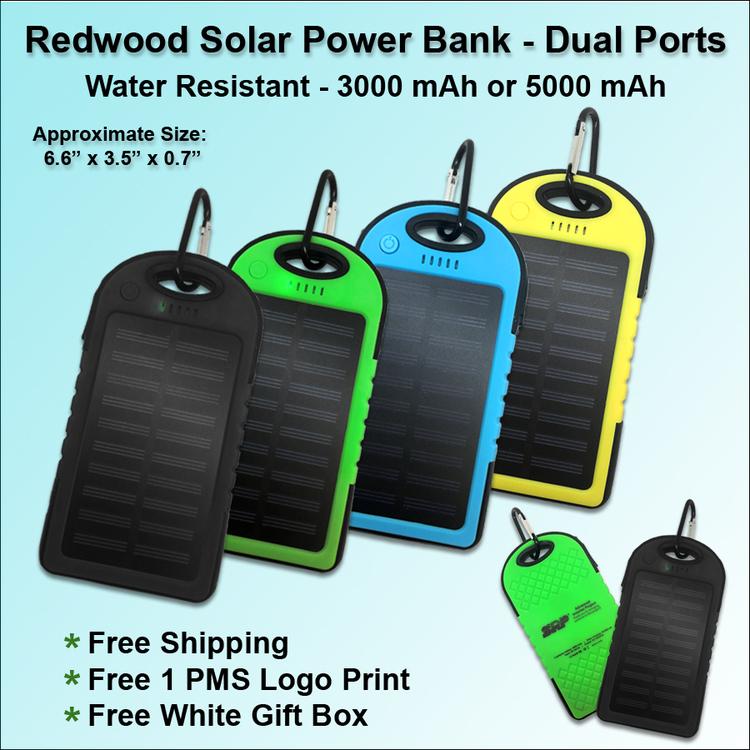 Redwood Solar Power Bank - 5000 mAh